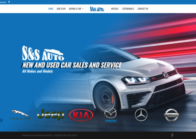 S&S Auto landing page